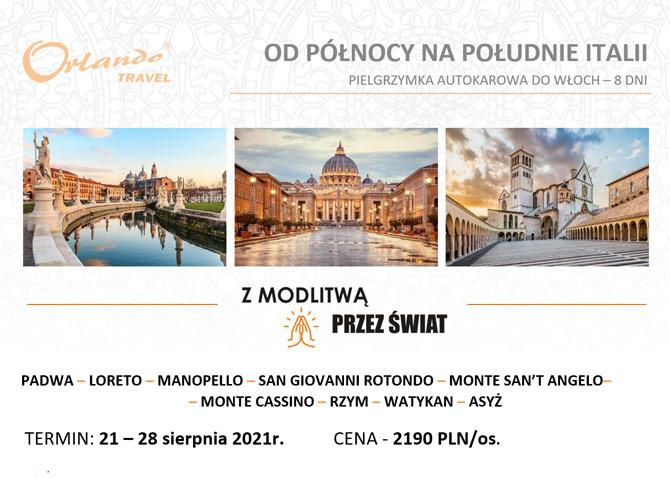 Pielgrzymka do Włoch - 21-28 sierpnia 2021 r.