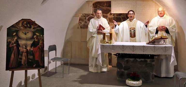 Msza św. w Kaplicy Męczeństwa i Wdzięczności